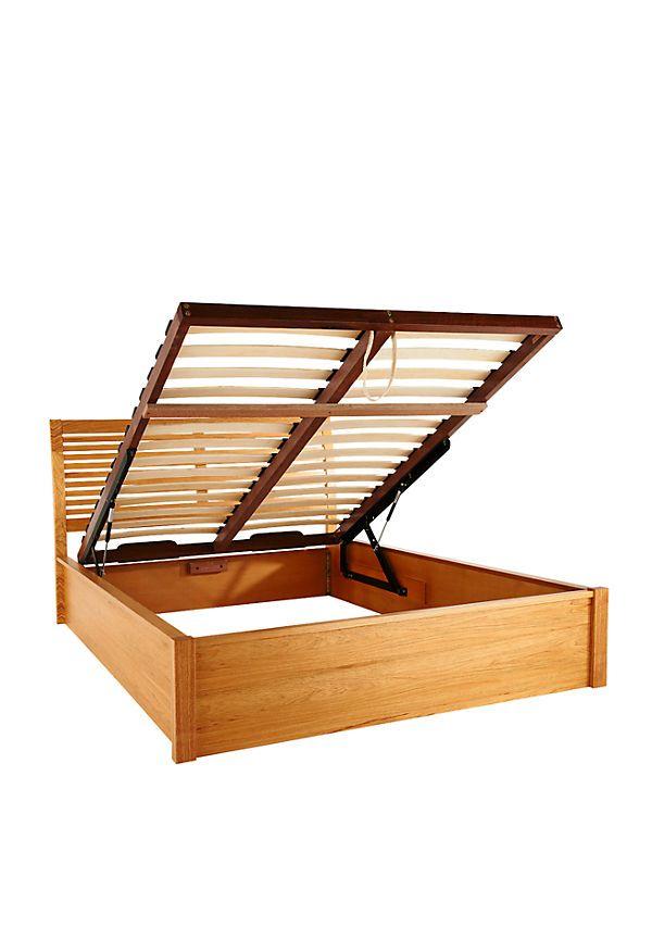 graydon wooden lift up storage bed frame - Bed Box Frame