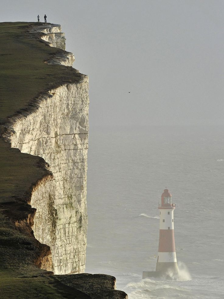Beachy Head Lighthouse near Eastbourne, East Sussex, England. [http://en.wikipedia.org/wiki/Beachy_Head]