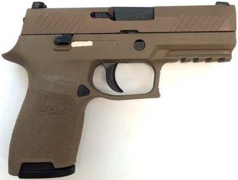 "Sig P320 Compact Pistol 320C357FDE, 357 Sig Sauer, 3.9"", FDE Polymer Grip, Flat dark Earth Finish, 13 Rd"
