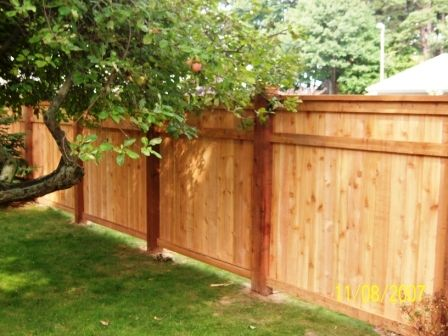 Best 10 wood fences ideas on pinterest for Wood privacy fence ideas