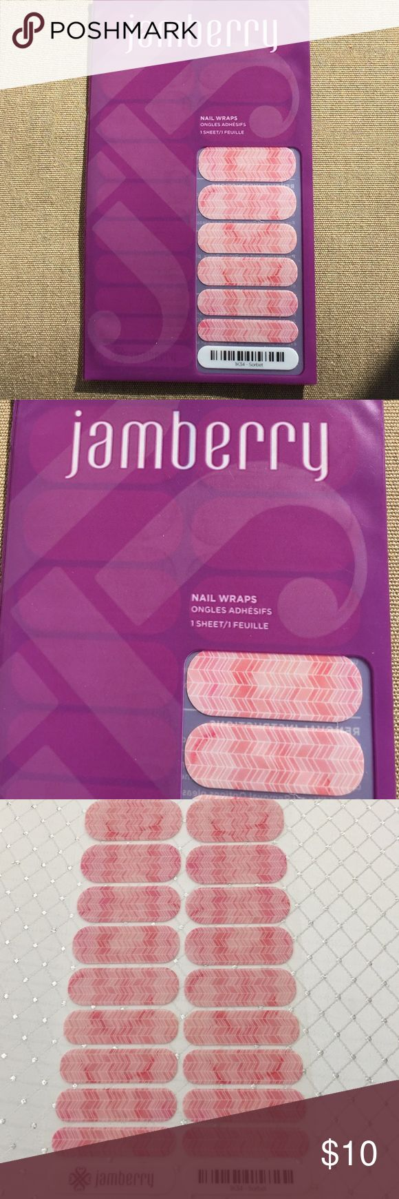 Jamberry Sorbet Nail Wraps 1 sheet of Jamberry nail wraps.  Love the product, not the shipping price?  Please bundle for a discount! Jamberry Other