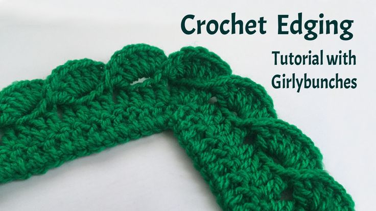 Crochet Baby Blanket Edging Tutorial : Learn to Crochet with Girlybunches - Crochet Wave Fan ...