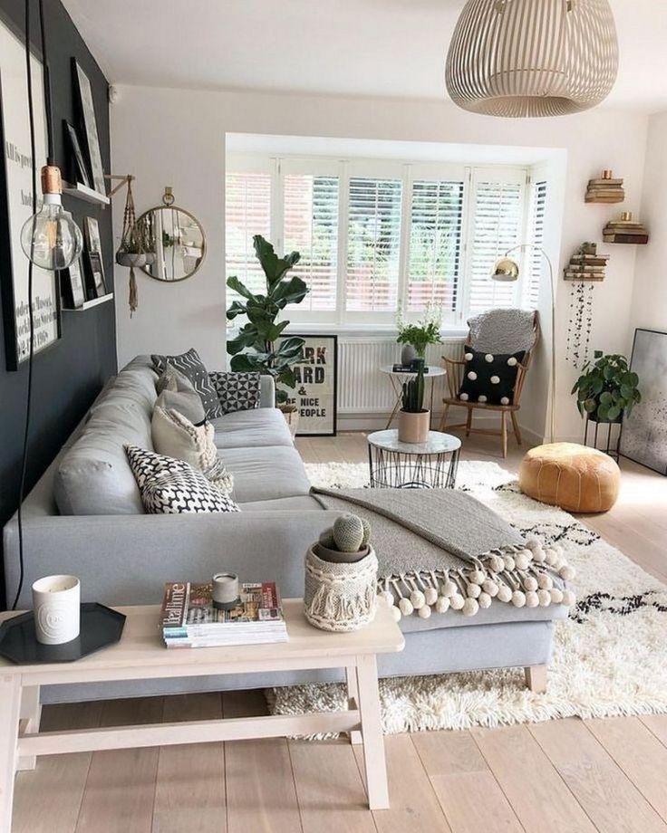 56 Comfy Scandinavian Living Room Decoration Ideas 47