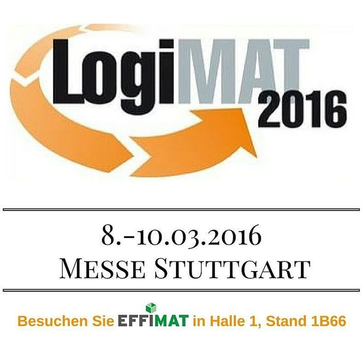 Besuchen Sie EffiMat auf der #LogiMAT: Stuttgart 08.- 10.03.2016 in Halle 1 Stand 1B66!http://ift.tt/1Lw5OvT #EffiMat#fair#tradeshow#worktrip#success#specialist#deutsch #germany #EfficientEffimat #storage #solution#logistics #lager #material #information #intralogistik #logistik #demo #warehouse #märz#february #logimat #messe #ausstellung #besuchen #inkontakttreten #kontakt