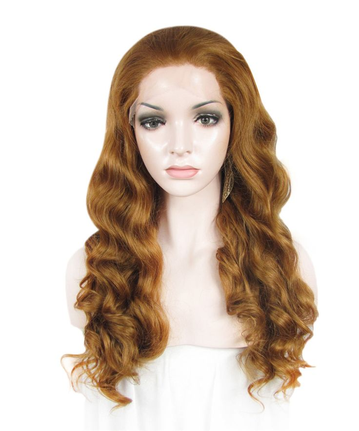 Imstyle Water Wavy Synthetic Honey blonde 24 Inches long lace front wig