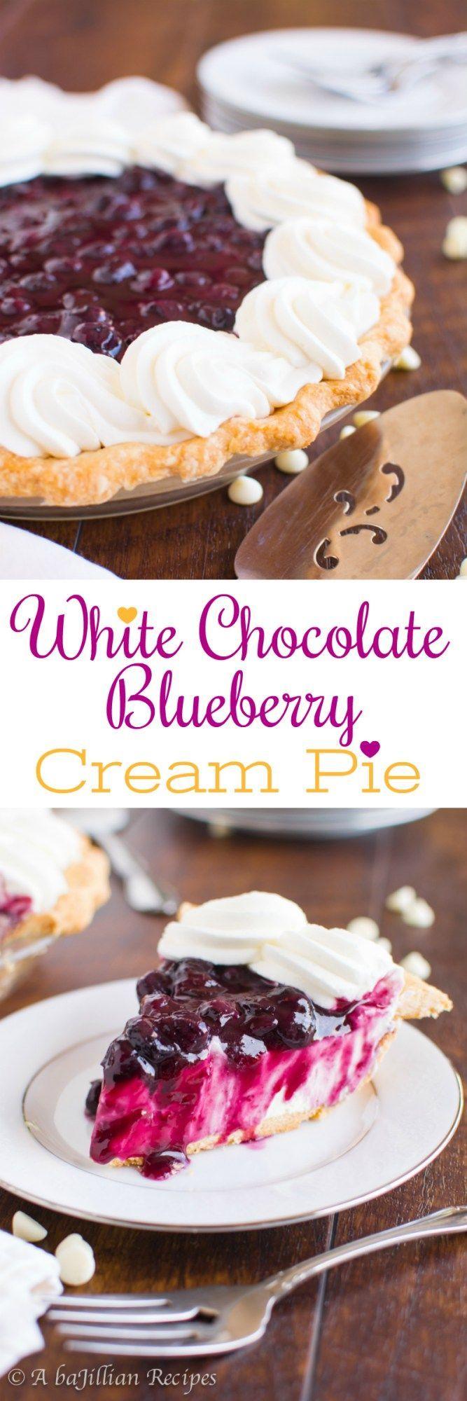 Weiße Schokolade Blueberry Cream Pie – Ein bajillianischer Rezepte (Collage