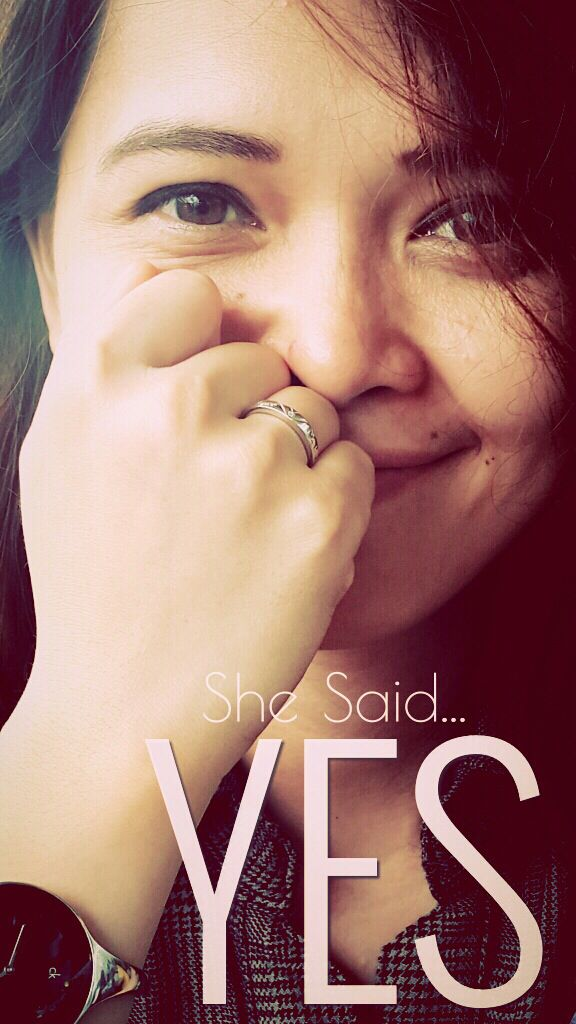 Said yes #loveyou