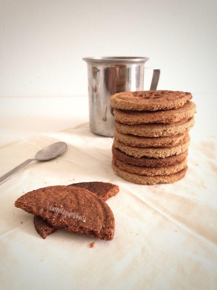 Biscotti con farina integrale di teff