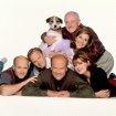 Frasier: Still of Kelsey Grammer, David Hyde Pierce, John Mahoney, Peri Gilpin, Jane Leeves & Dan Butler