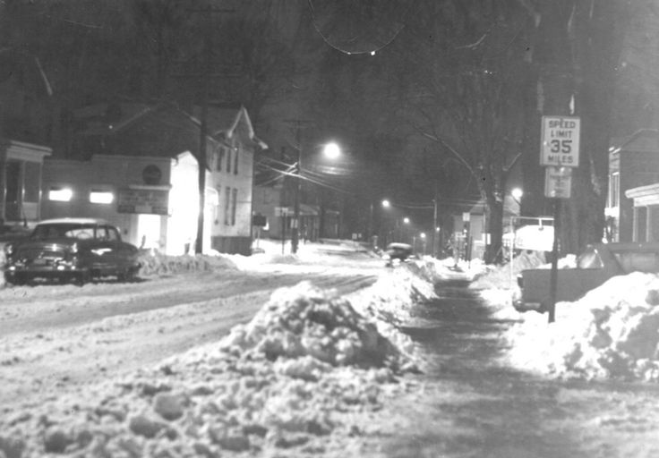 Meadville PA Lest We Forget Looking South On Baldwin St To Park Ave Feb 22 1958