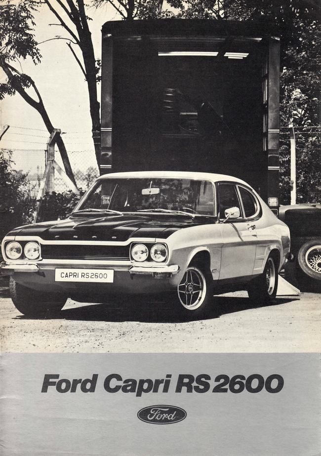 FORD Capri 2600 RS. The Americanized version of this was my first car.