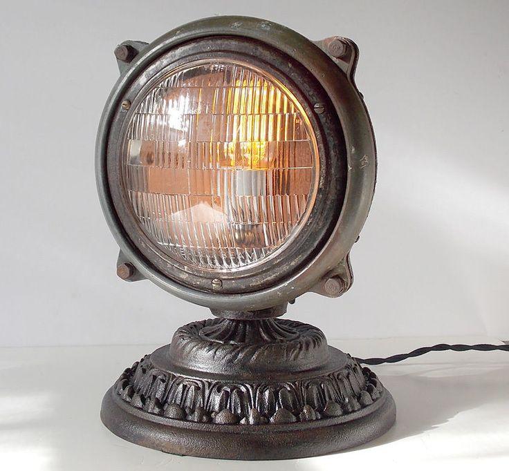 les 25 meilleures id es de la cat gorie lampe steampunk. Black Bedroom Furniture Sets. Home Design Ideas