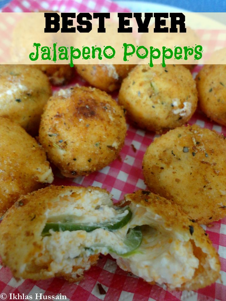 Best Ever Jalapeno Poppers - Well, I did follow the instructions and used a deep fryer.  Let's just say, mine did not come out this way.  I put a bunch of balls in and out came a glopping mess.    It was awful.  I'm guessing it would have helped to have frozen the balls for 1/2 hr or more and to have baked them.
