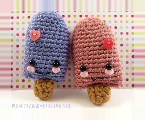 Popsicle free crochet pattern by blogger Jennygurumi