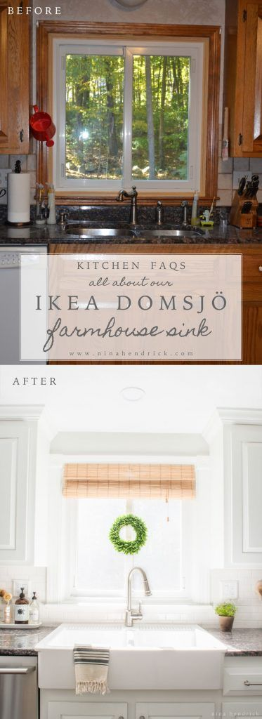 farmhouse sink kitchen farm ikea domsjo cabinet uk