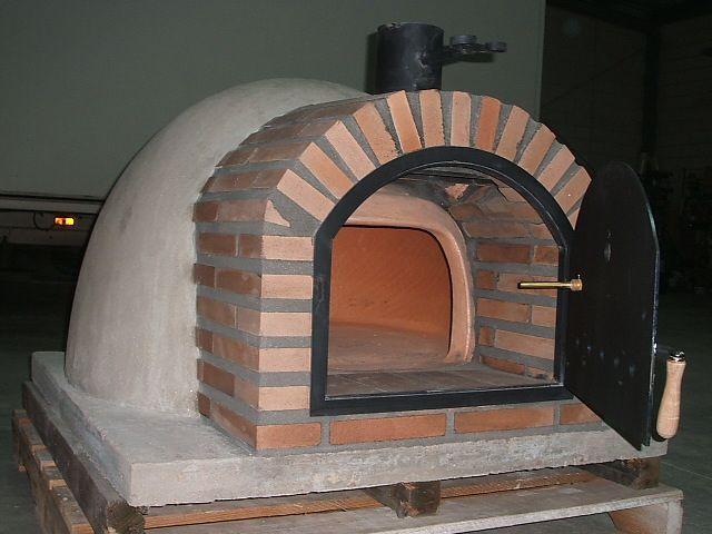 horno de barro montado
