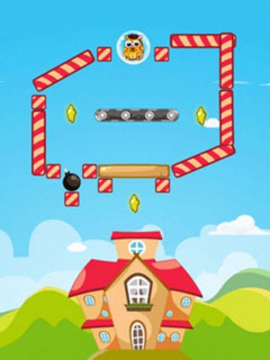 Маленький грызун, который играет главную роль в фантастической головоломке-приключение Hamster Go Home сбежал из зоомагазина и заблудился. Теперь он нуждается в вас помочь, потому что он хочет, чтобы найти новый дом так плохо и не может сделать это на своем собственном. На пути через 60 весело упакованы уровней он должен решать головоломки и использовать такие инструменты, как бомбы и телепорт, чтобы очистить путь и собрать три звезды, которые разбросаны на каждом уровне.