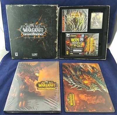 WORLD OF WARCRAFT CATACLYSM NEW COLLECTOR'S EDITION GAME LIMITED WOW PET
