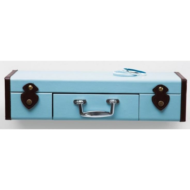 Blue Suitcase Wall Shelf