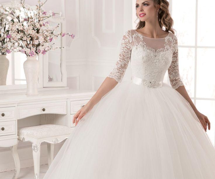 Пышные белые свадебные платья фото