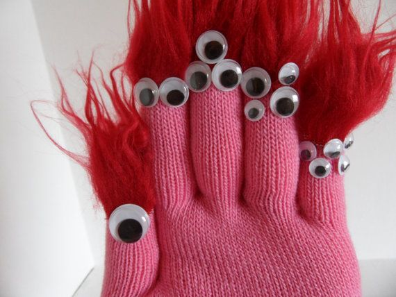 Monster Glove Puppet for Adoption. $6.50, via Etsy.