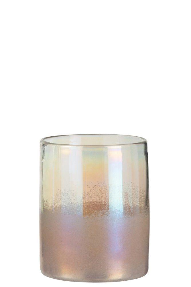 J Line Vaas Rond Hoog Glas Roze Small In 2020 Vaas Porseleinen Vaas Glas