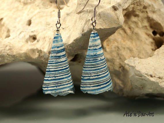 Polymer clay earringsorganic earrings organic jewelry Ale'n'Dar-Art