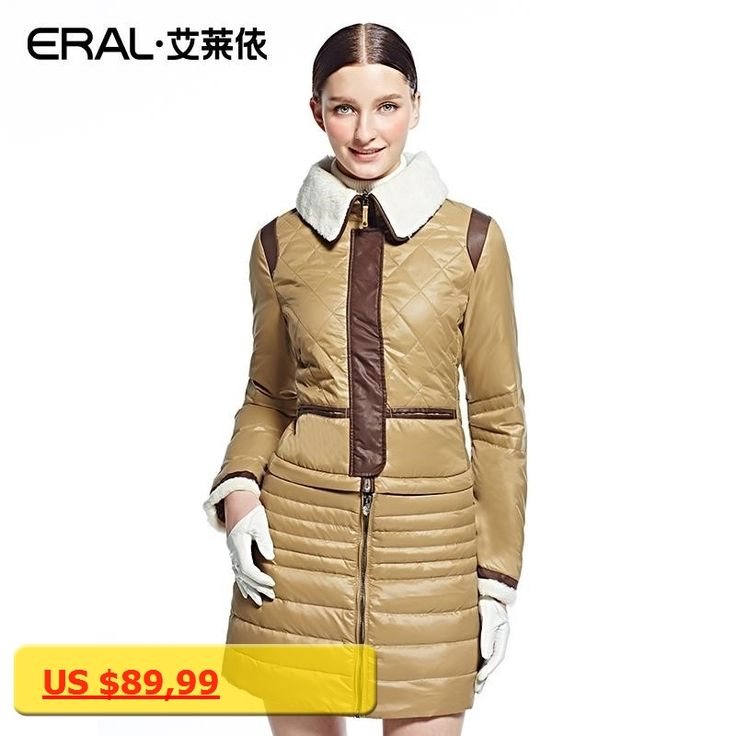 ERAL Womens Winter Down Jacket Thermal Casual Long Parka Coat for women ERAL7103B