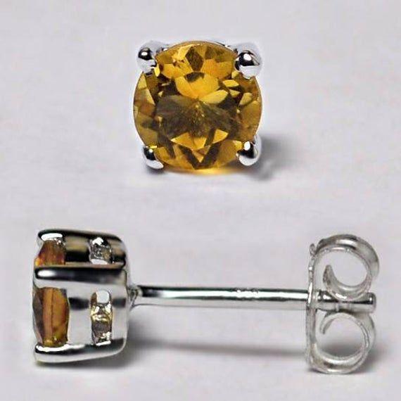 925 Sterling Silver Birthstone Round Halo Gemstone Stud Push Back Earrings