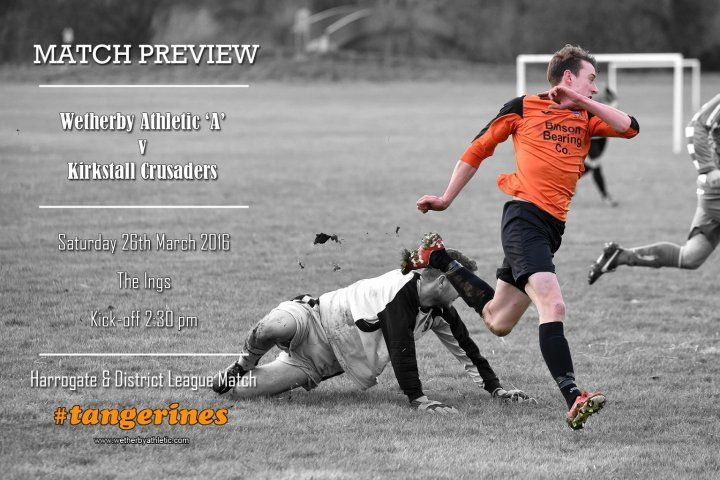 MATCH PREVIEW: The 'A' Team Have 4th Place In Their Sights! http://www.wetherbyathletic.com/news/match-preview--kirkstall-crusaders-1586604.html