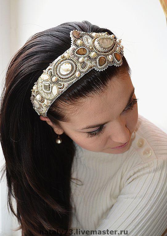 """Купить ободок """"Афина"""" (несколько вариантов) - ободок для волос, обруч для волос, украшение для волос"""