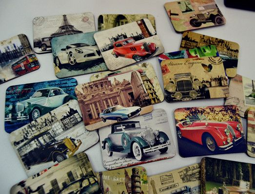 Find More Fridge Magnets Information about 24 Piece Magnetic Fridge Magnets Refrigerator Sticker Vintage Car Home Decoration Accessories Magnetic Paste Arts/Crafts,High Quality magnetic fridge magnets,China fridge magnet Suppliers, Cheap magnet refrigerator from Lucky100% on Aliexpress.com