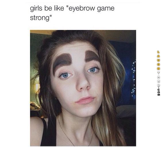 eyebrow game strong funny pictures pinterest eyebrow