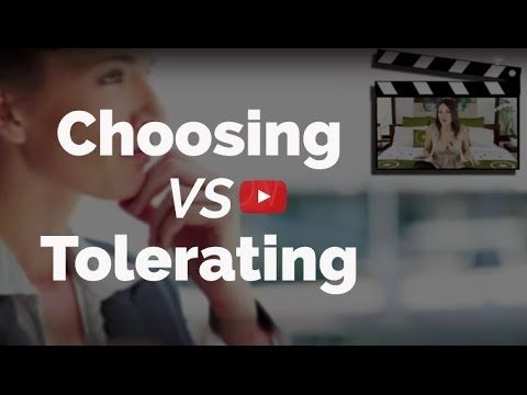 """CHOOSING Vs TOLERATING"" There is a HUGE distinction between CHOOSING something and TOLERATING it. And this distinction has a massive impact in your life. Watch this video to understand the difference  www.KateMareeOBrien.com www.HenareAndKate.com"