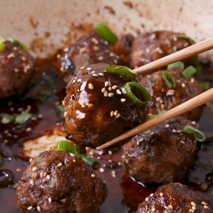 Skip the takeout and create your own version as a meatball. #food #easyrecipe #dinner #familydinner #ideas