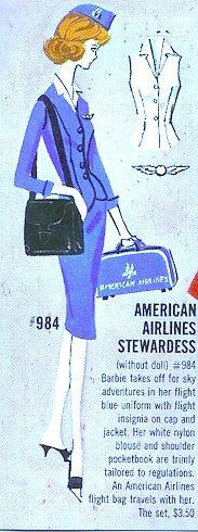 Barbie ... as an American Airlines Stewardess ... /6f/20d06f8b64df9f5a6bde4eeec2c2e3ba.jpg