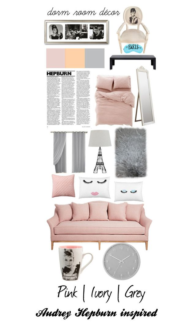"""Audrey Hepburn Inspired Dorm Room"" by amy1907murray ❤ liked on Polyvore featuring interior, interiors, interior design, home, home decor, interior decorating, Urban Outfitters, Kartell, Pottery Barn and Umbra"