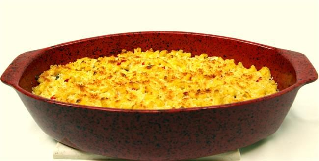 Panko Crumb-Topped Gourmet MACARONI & CHEESE - Love the Crunchy Top ...