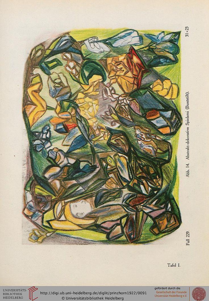 Prinzhorn, Hans  Bildnerei der Geisteskranken: ein Beitrag zur Psychologie und Psychopathologie der Gestaltung Berlin, 1922 Seite: Tafel 1