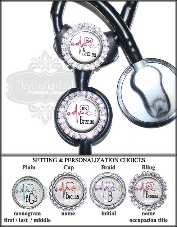 Littmann Stethoscope Tag - Personalized ECG and Heart Stethoscope Id Tag in 6 Colors, Cardiology Stethoscope Id (A204)