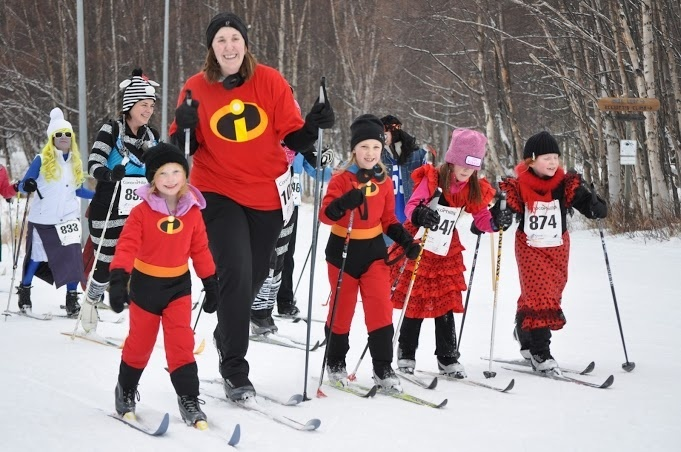 The Alaska Ski for Women is a great event where women of all ages and abilities come out to Nordic ski, many in colorful costumes, while raising funds for local non-profit organizations that help stop the cycle of domestic abuse against women and children. GCI is a proud sponsor of this annual event.
