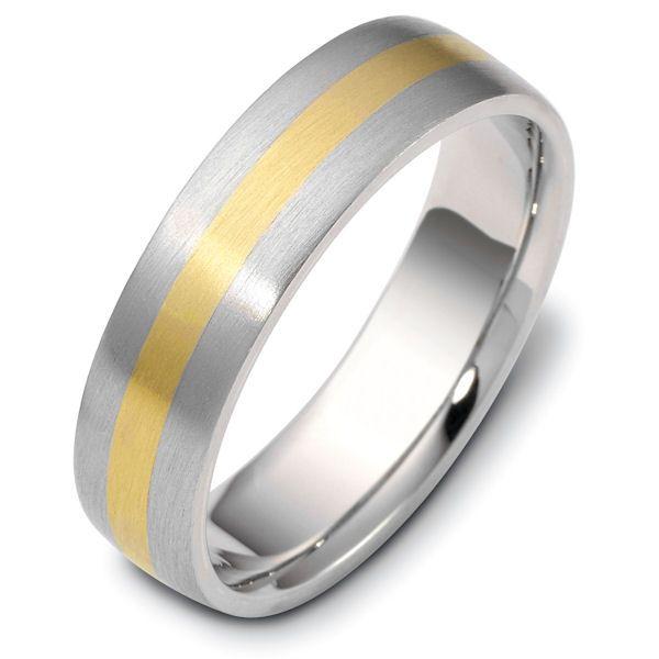 18k gold 60mm wide comfort fit wedding band
