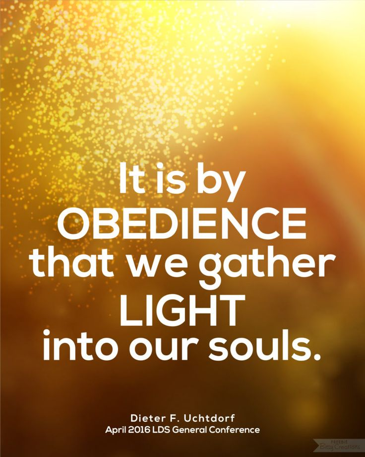 Uchtdorf Obedience LDS General Conference April 2016 Free Printable from BitsyCreations #ldsconf