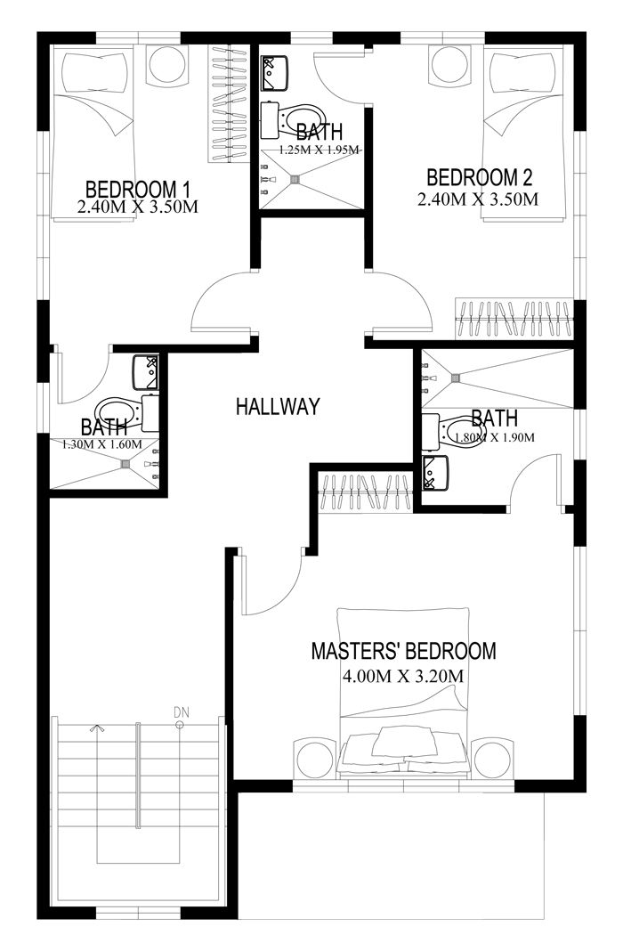 Two story house plans can be designed on almost any style