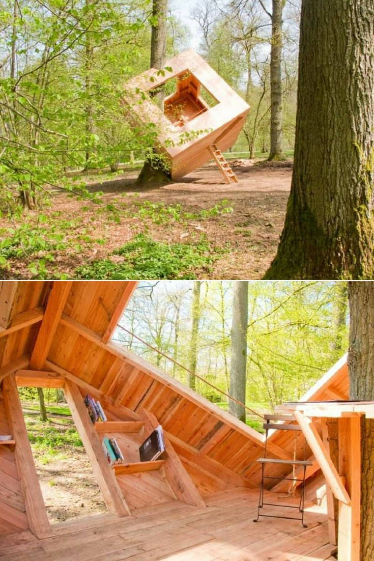 Here Is One Of The Most Contemporary Hut We Ve Ever Seen It Was Initially Made As An Ephemeral In In 2020 Shed Landscaping Landscaping Retaining Walls Tree House Diy