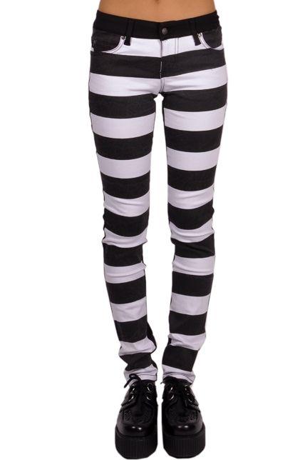 Tripp NYC Jail Stripe Jeans - TrashandVaudeville.com
