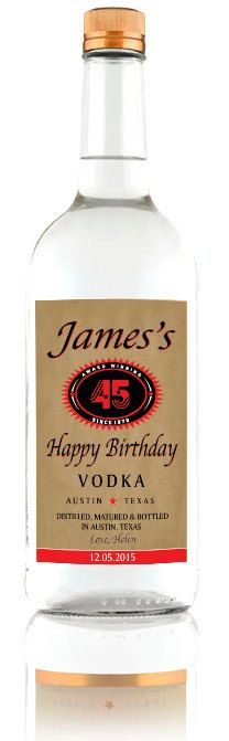 Personalized Tito's Vodka Label (Best Gift for Men)