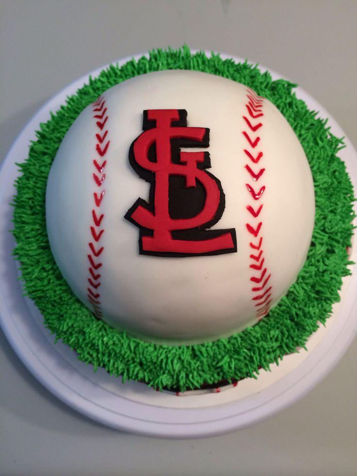 St Louis Cardinals Cake Cakes Pinterest St Louis