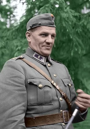 Aaro Pajari (17 July 1897 – 14 October 1949) The first Mannerheim Cross (2nd class) was awarded to him on September 14, 1941, for his decisive role in breakthrough battle at Karelian Isthmus, and the second one on October 16, 1944, mainly for operations at Tornio.