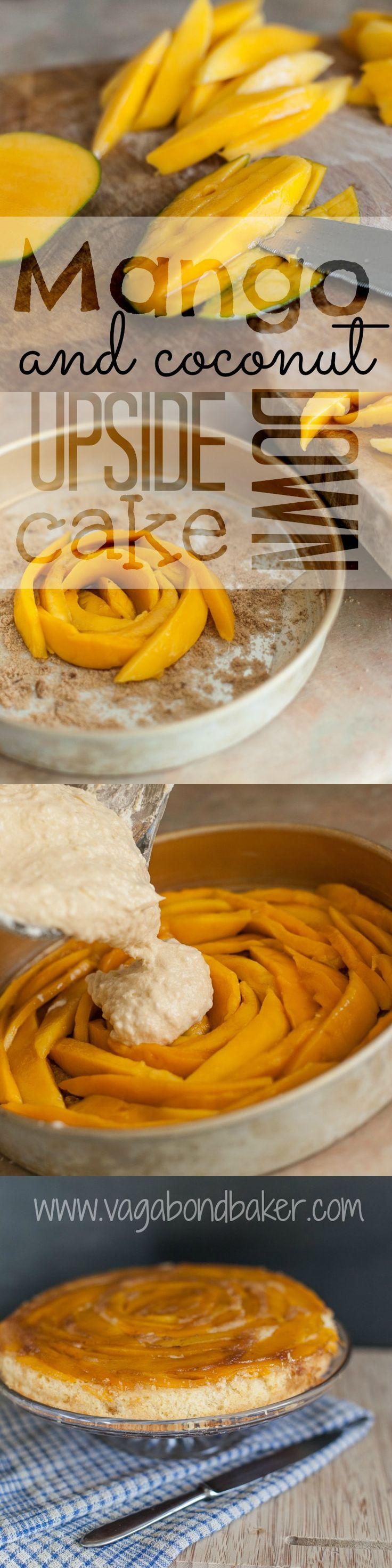 Mango and Coconut Upside Down Cake // a sunshine dessert // Vagabond Baker